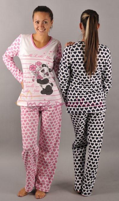 Dámské pyžamo Vienetta Secret Panda - výprodej