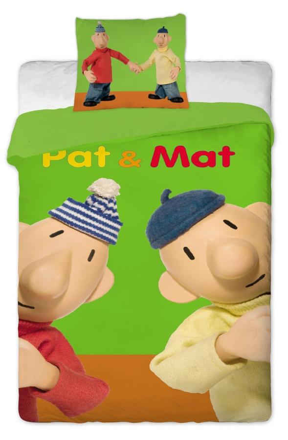 Dětské povlečení bavlna Pat a Mat zelený