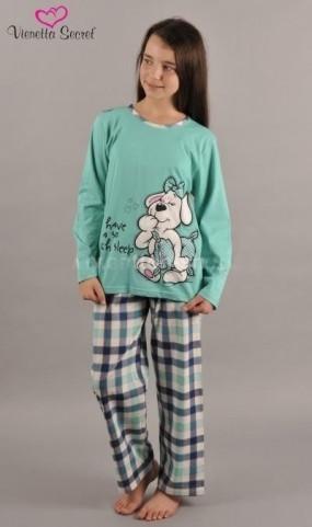 Dětské pyžamo dlouhé Vienetta Secret Pes spáč - výprodej