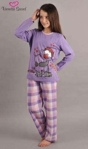 Dětské pyžamo dlouhé Vienetta Secret - Tučňák s čepkou