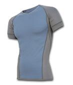 SENSOR ACTIVE pánské triko krátký rukáv šedá/modrá