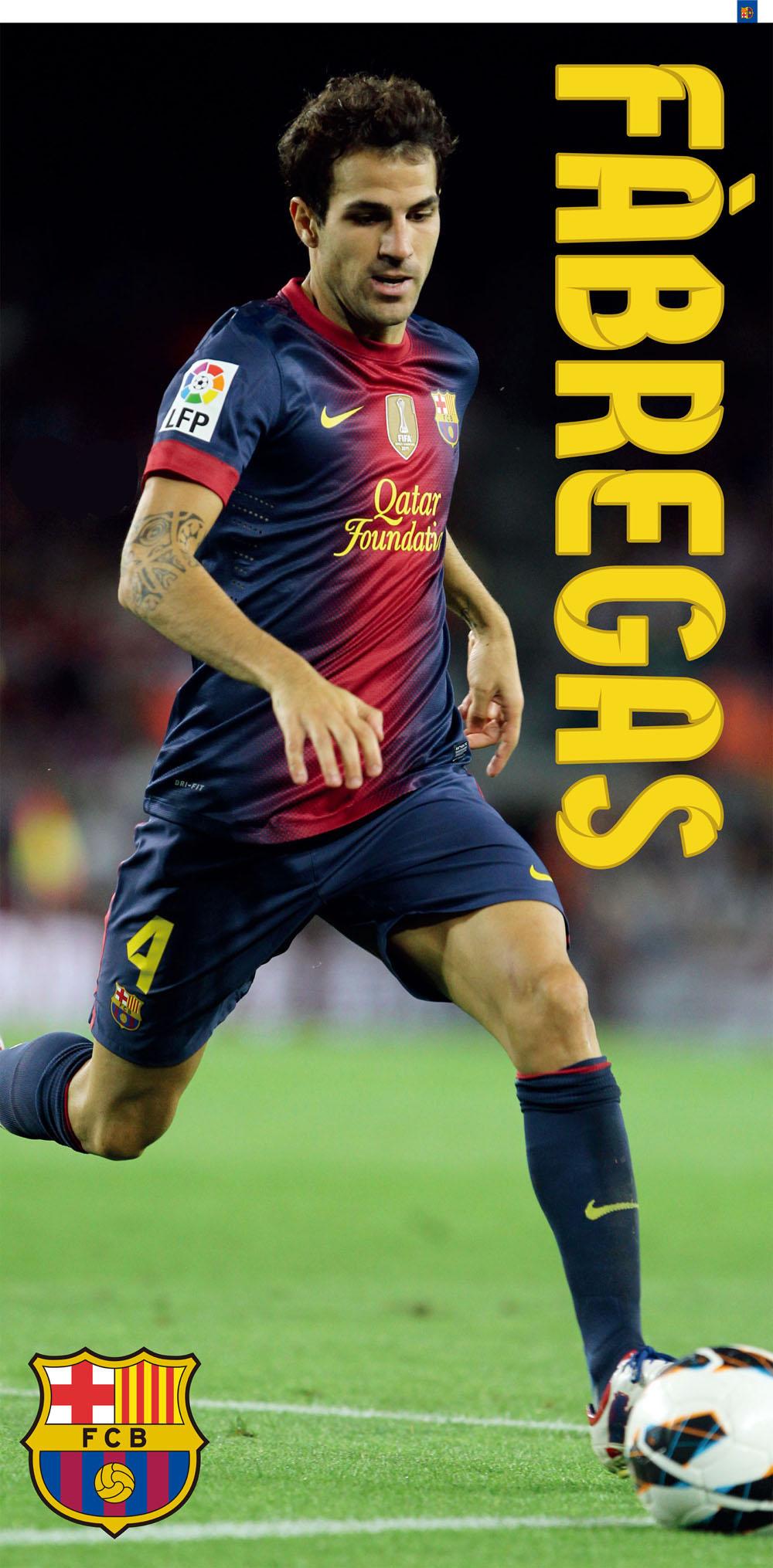 Bavlněná osuška DADKA FC Barcelona - Fábregas 75x150 cm