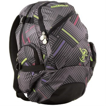 Batoh Chiemsee Techpack stripe check black 102663