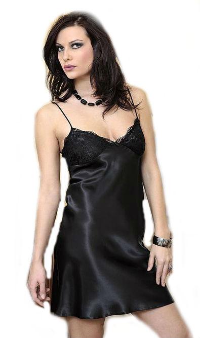 Dámská černá košilka DKaren Agnes