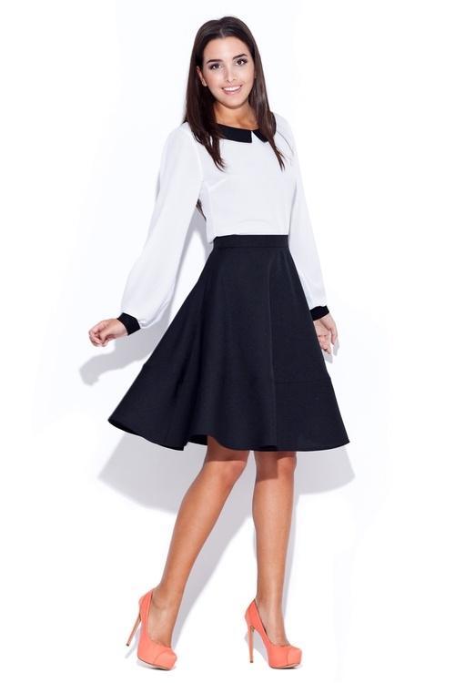 Dámská černá sukně Katrus K055