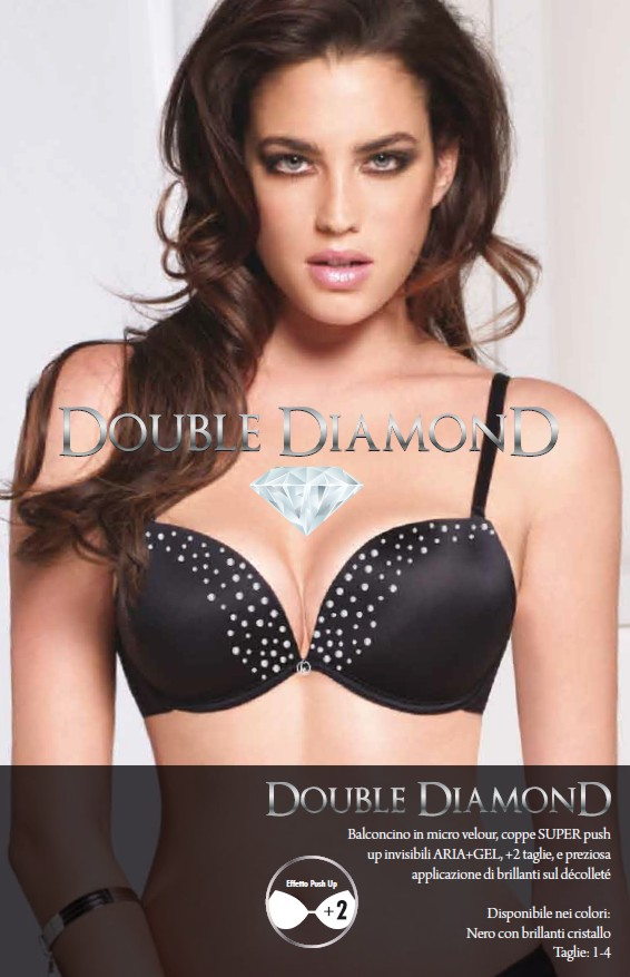 Dámská double push-up podprsenka Lormar Double Diamond
