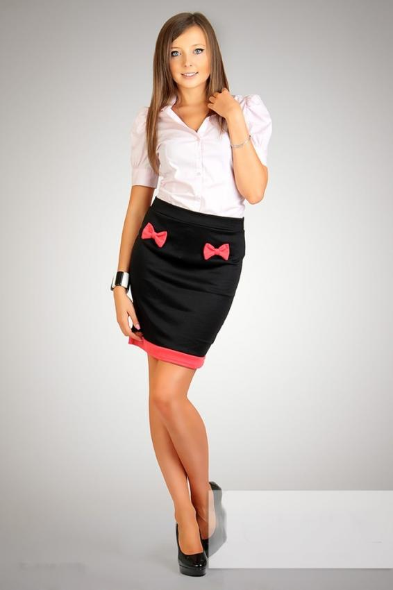 Dámská elegantní sukně lum-004bl
