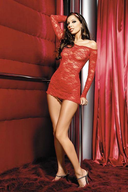 Dámská erotická košilka Anais Gianna red