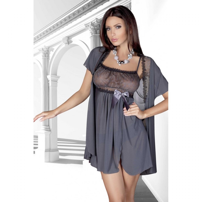 Dámská erotická košilka De Lafense 893 Adell grey