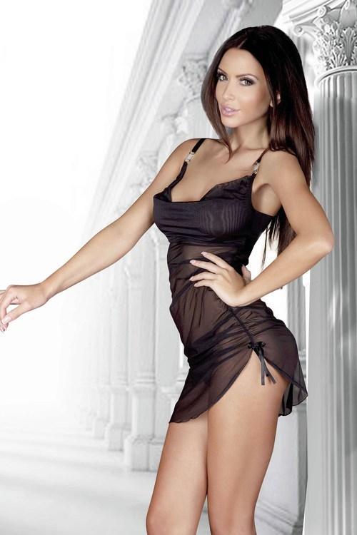 Dámská erotická košilka De Lafense 902 Amandine black