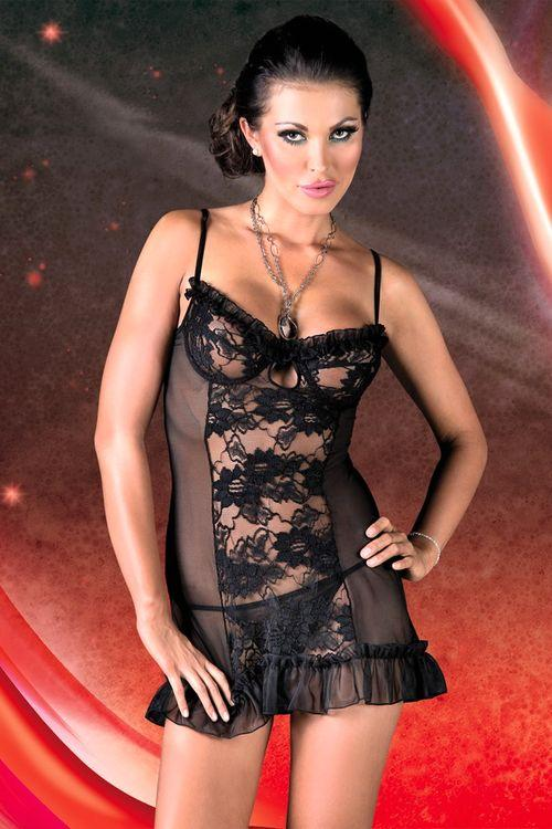 Dámská erotická košilka SoftLine Collection Lulu black