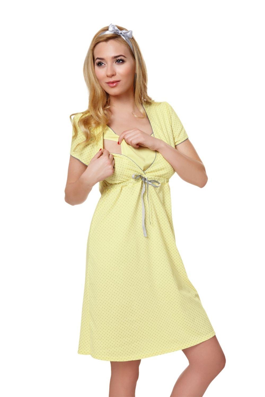 Dámská kojící košile Italian Fashion Felicita žlutá