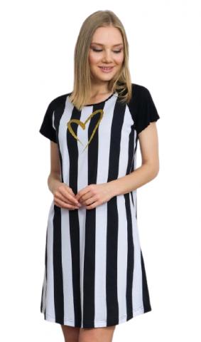 Dámská košile s krátkým rukávem Vienetta Secret Pruhy