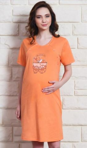 Dámská noční košile mateřská Vienetta Secret Kočárek