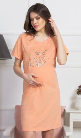 Dámská noční košile mateřská Vienetta Secret Kočka