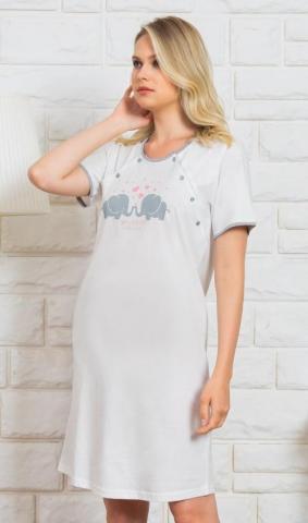 Dámská noční košile mateřská Vienetta Secret Slůňata