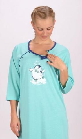 Dámská noční košile mateřská Vienetta Secret Tučňák