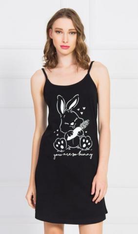 Dámská noční košile na ramínka Vienetta Secret Králík s mrkví