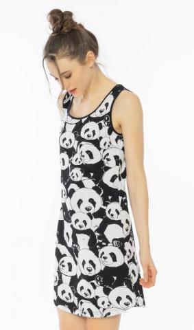 Dámská noční košile na ramínka Vienetta Secret Pandy