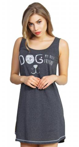 Dámská noční košile na ramínka Vienetta Secret Dog