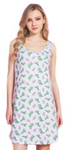 Dámská noční košile na ramínka Vienetta Secret Kaktus