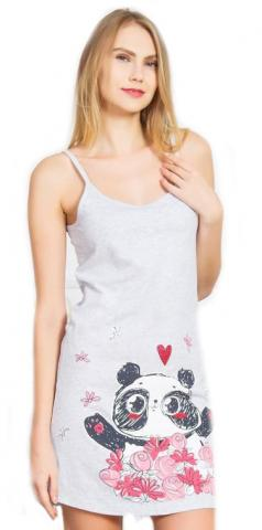 Dámská noční košile na ramínka Vienetta Secret Panda