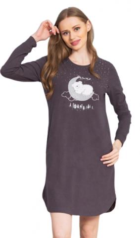 Dámská noční košile s dlouhým rukávem Vienetta Secret Méďa