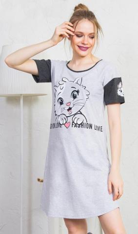 Dámská noční košile s krátkým rukávem vienetta Secret Fashion