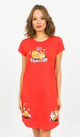 Dámská noční košile s krátkým rukávem Vienetta Secret Fresh start