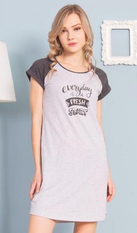 Dámská noční košile s krátkým rukávem Vienetta Secret Fresh