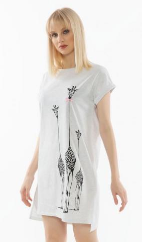 Dámská noční košile s krátkým rukávem Vienetta Secret Klára
