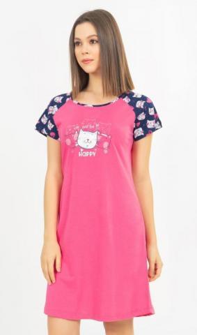 Dámská košile s krátkým rukávem Vienetta Secret Kočky