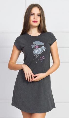 Dámská noční košile s krátkým rukávem Vienetta Secret Lada