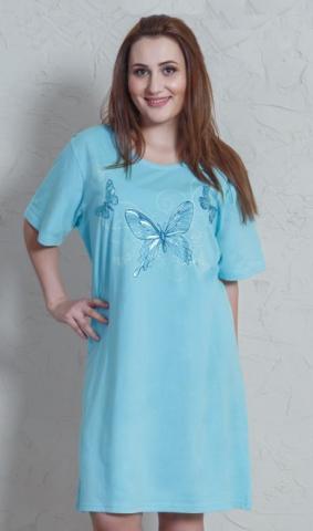 Dámská nadměrná noční košile Vienetta Secret Motýli