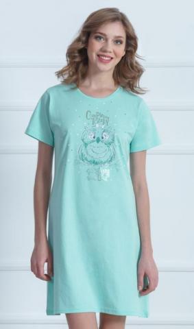 Dámská noční košile Vienetta Secret Sova a hvězdy