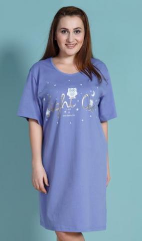 Dámská nadměrná noční košile Vienetta Secret Sovy a hvězdy