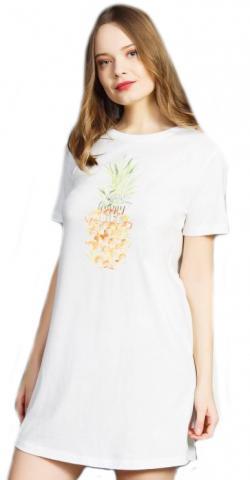 Dámská noční košile s krátkým rukávem Vienetta Secret Ananas