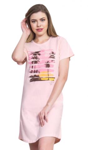 Dámská noční košile s krátkým rukávem Vienetta Secret Hawaii