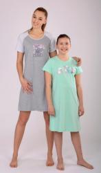 Dámská noční košile s krátkým rukávem Vienetta Secret Medvěd s mašličkou
