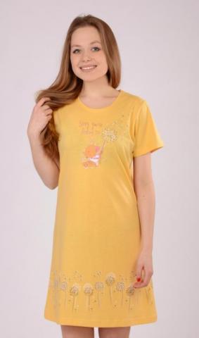 Dámská noční košile s krátkým rukávem Vienetta Secret Myš s pampeliškou