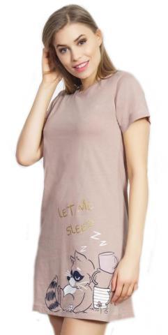 Dámská noční košile s krátkým rukávem Vienetta Secret Mýval