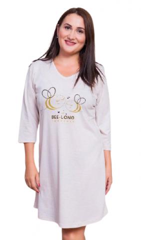 Dámská noční košile s tříčtvrtečním rukávem Vienetta Secret Včely