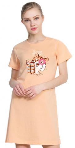 Dámská noční košile Vienetta Secret Kočka s dárkem