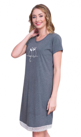 Dámská noční košile Vienetta Secret Kočky na střeše