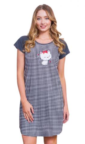 Dámská noční košile Vienetta Secret Kotě s mašličkou