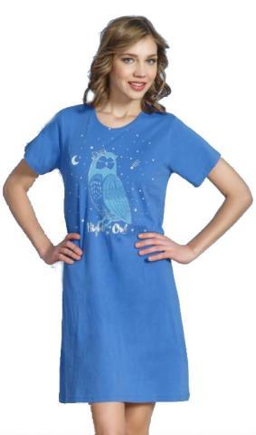 Dámská noční košile Vienetta Secret Sova Pálená