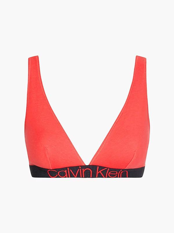Dámská podprsenka Calvin Klein QF6577 UNLINED TRIANGLE korálová