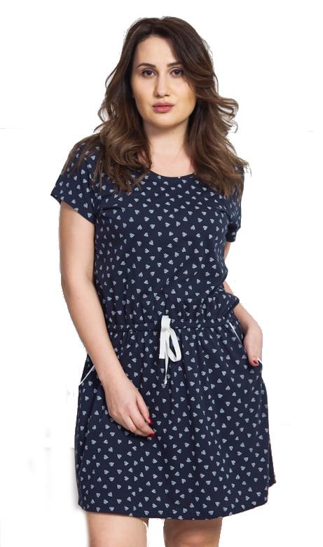 Dámské domácí šaty s krátkým rukávem Vienetta Secret Hana