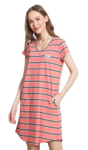 Dámské domácí šaty s krátkým rukávem Vienetta Secret Hey