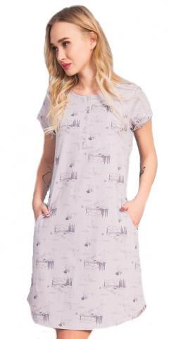 Dámské domácí šaty s krátkým rukávem Vienetta Secret Lydie